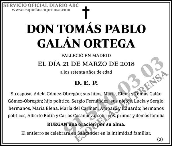 Tomás Pablo Galán Ortega